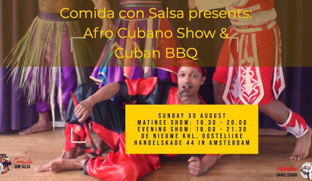 Flyer for workshop afro cubano
